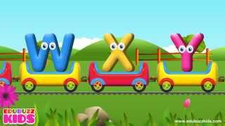 abc songs for children   an alphabet train   learning upper case letters