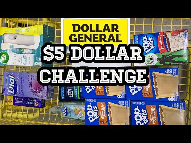 Dollar General | $5 Challenge! | Couponing Deals You Can Do Now | $0.50 Per Item ????????