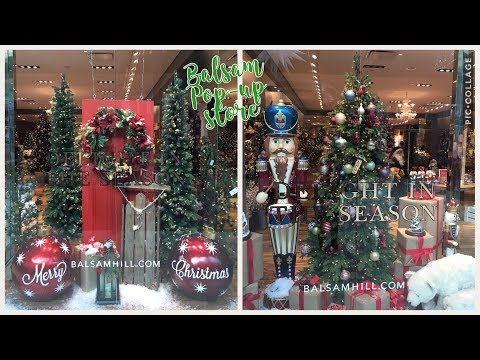 balsam hill pop up shop with me - Black Friday Deals Christmas Decorations