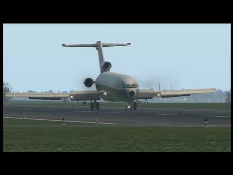 [X-Plane 11] Boeing 727-200 arrival Albany, NY