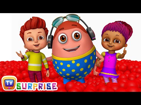 Thumbnail: Kids play in HUGE Gumball Machine, Ball Pit and Surprise Eggs to Learn Color Red | ChuChu TV Funzone