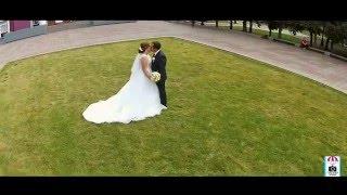 аэросъёмка свадьбы летом