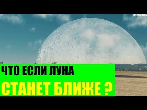Что будет если Луна станет ближе к Земле?