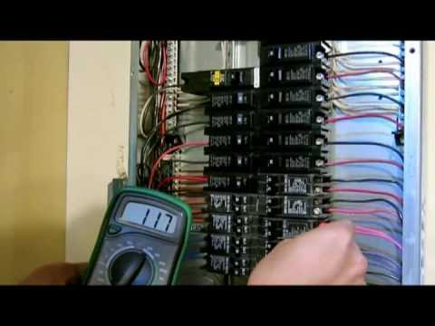 how to repair replace broken circuit breaker - multiple Electric outlet not working - fuse box panel