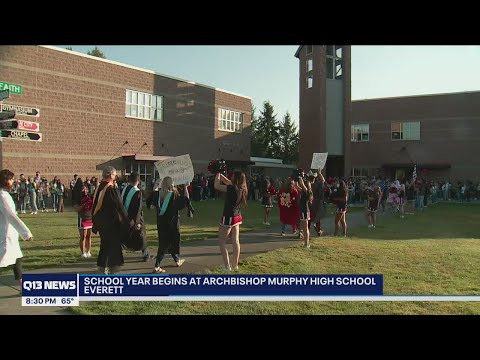 First day at Archbishop Murphy High School