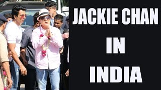 Jackie Chan reaches India, gets traditional welcome; Watch Video | FilmiBeat