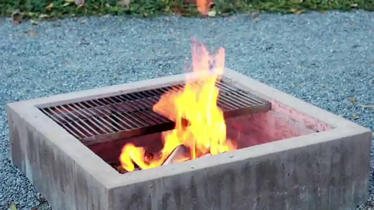 Modern concrete fire pit youtube for How do i build a fire pit