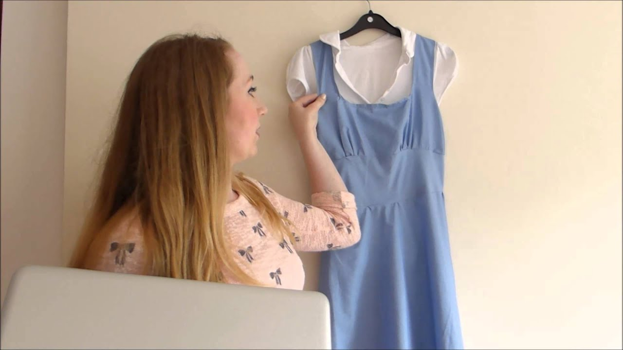 u0027Beauty and the Beastu0027 Belle DIY Dress & Beauty and the Beastu0027 Belle: DIY Dress - YouTube