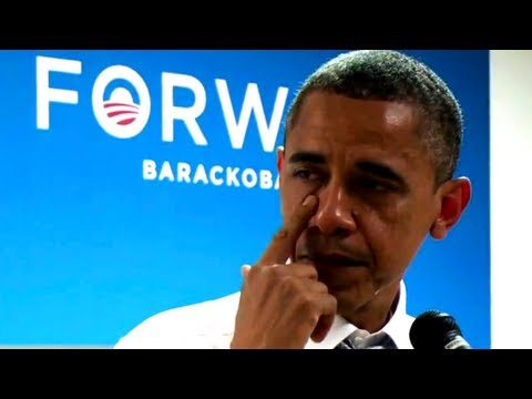 """Obama's Tearful """"Thank You"""" To Campaign Staff"""