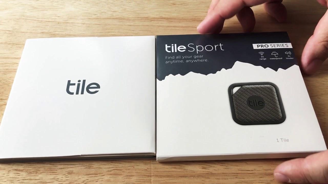 tile sport pro series 2x distance waterproof tracker unboxing 8 20 18
