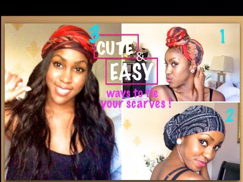 3 Easy Cute Ways To Wear Your Turban Headwrap Tutorial Youtube