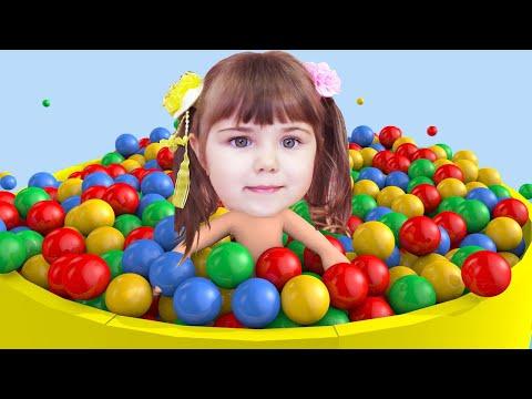 Учим Цвета с Шариками, Цвета на Английском языке Веселое Видео для Детей и Малышей
