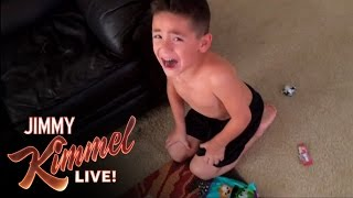 YouTube Challenge - I Told My Kids I Ate All Their Halloween Candy 2014(For the past three years we've challenged parents to pretend they ate all their kids' Halloween Candy, shoot video of it, and upload that video to YouTube., 2014-11-04T08:30:03.000Z)