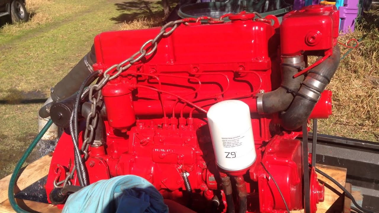 Ford Lehman 80 Hp After Rebuild With Fuel Pump