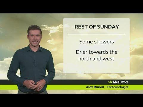 Sunday afternoon forecast 17/09/17