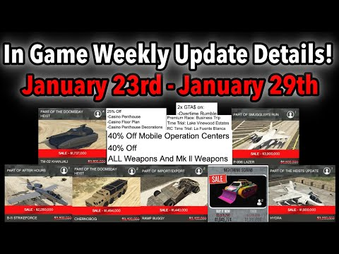 GTA 5 ONLINE IN GAME WEEKLY UPDATE DETAILS! DOUBLE MONEY, NEW ATV, VEHICLE DISCOUNTS, & MORE!