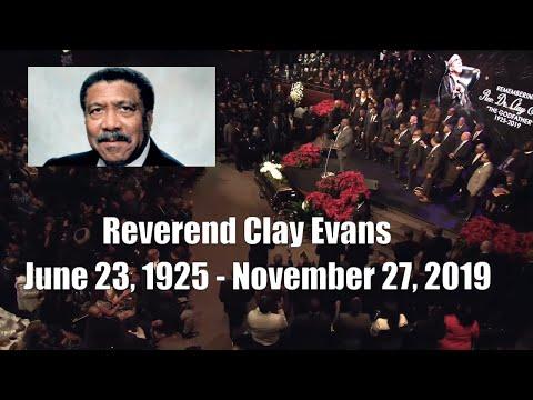 Clay Evans Friday Service Celebration