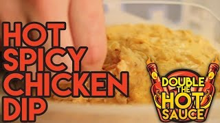 Hot Spicy Chicken Dip - Double The Hot Sauce