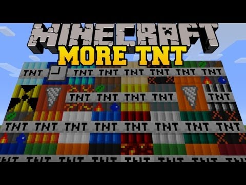 Thumbnail: Minecraft: MORE TNT MOD (35 TNT EXPLOSIVES AND DYNAMITE!) TOO MUCH TNT Mod Showcase
