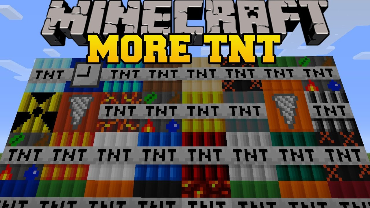 Minecraft More Tnt Mod  Tnt Explosives And Dynamite Too Much Tnt Mod Showcase Youtube