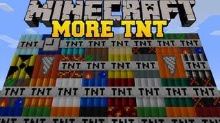 Repeat youtube video Minecraft: MORE TNT MOD (35 TNT EXPLOSIVES AND DYNAMITE!) TOO MUCH TNT Mod Showcase