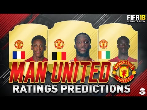 FIFA 18 | MANCHESTER UNITED PLAYER RATINGS PREDICTIONS | FT. LUKAKU, MARTIAL & BAILLY - FUT 18