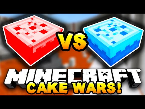 Minecraft - RED VS BLUE CAKE WARS! - w/ Preston, MinecraftUniverse & Choco