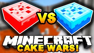 Minecraft - RED VS BLUE CAKE WARS! - w/ Preston, MinecraftUniverse & Choco
