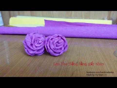 Làm hoa bằng giấy nhún đẹp (P1) | handmade gifts (made by my heart)