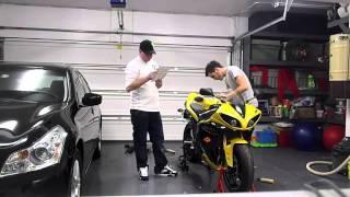 2009 Yamaha R1 comes home