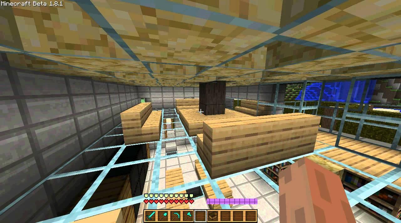 Minecraft : Idées village magasin + piscine + cabane + maison ...
