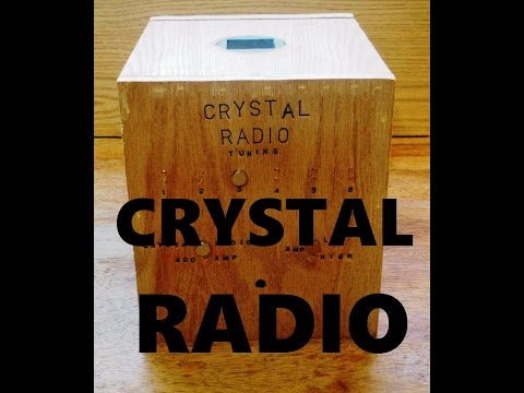 CRYSTAL RADIO Homemade Set up + Operation Guide Unique Handmade Example!