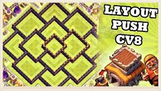 CLASH OF CLANS- Layout de PUSH ! (CV8)