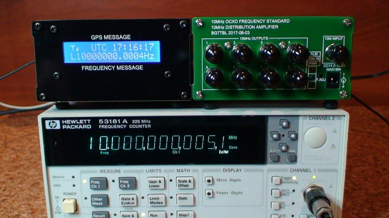 GPSDO Disciplined Oscillator - dokładny pomiar częstotliwości