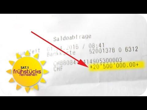 Plötzlich 19 MILLIONEN EURO auf dem KONTO | SAT.1-Frühstücksfernsehen