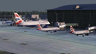 FSX [HD] - British Airways A380 Approach to London Heathrow