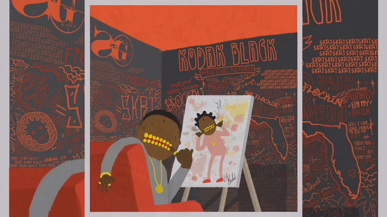Download Kodak Black - Reminiscing Ft. A Boogie Wit Da Hoodie [Official Audio] Painting Pictures