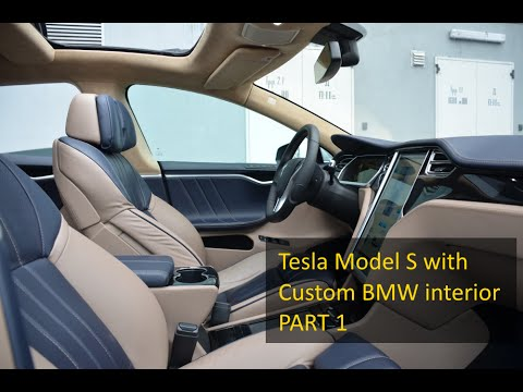 tesla model s custom bmw interior for 30k part 1 overview and test drive moscow tesla. Black Bedroom Furniture Sets. Home Design Ideas