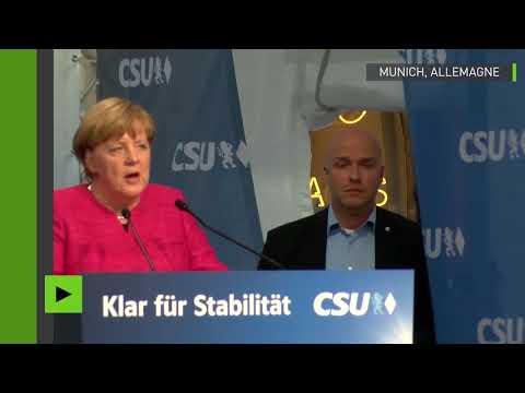 Angela Merkel sifflée et huée lors d'un discours de campagne à Munich