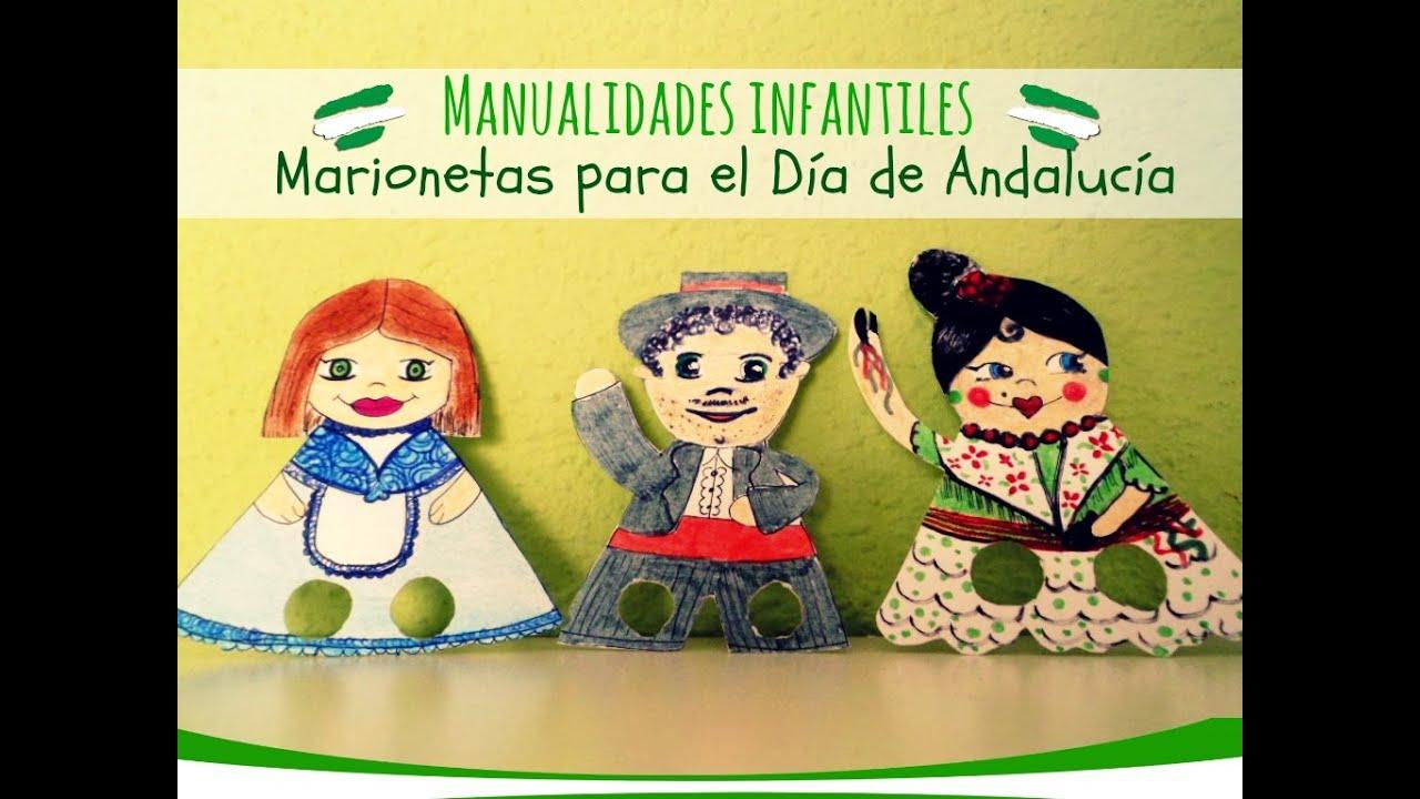 Manualidades Infantiles Marionetas Diy Para El Dia De Andalucia