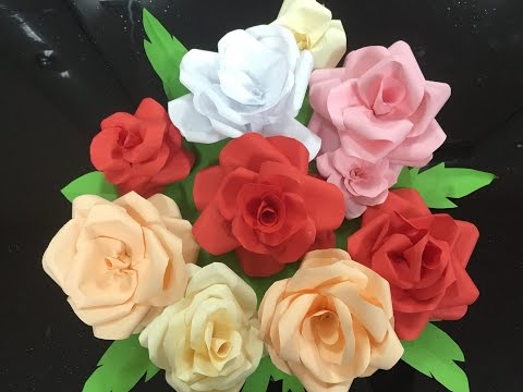 HOW TO MAKE D.I.Y PAPER ROSES USING A4 SIZED PAPERS (EP 2)