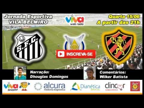 Santos x Sport Ao Vivo