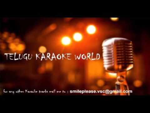 Aha Allari Allari Choopulatho Karaoke    Khadgam    Telugu Karaoke World   