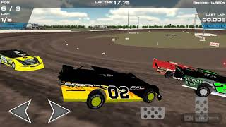 Playing dirt track racing... I suck today