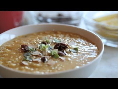 Red Lentil & Rice Soup Vegan Recipe    KIN EATS