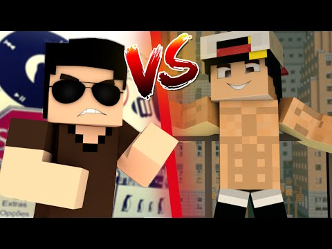 Thumbnail: FELIPE NETO VS MC BIEL ‹ Minecraft Machinima ›