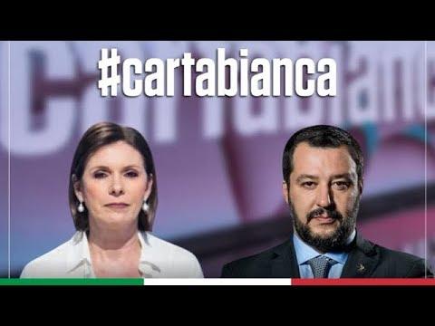 MATTEO SALVINI A CARTA BIANCA (RAI 3, 24.03.2020)