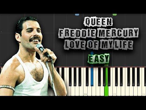Queen - Freddie Mercury - Love Of My Life - EASY - [Piano Tutorial] (Download MIDI + Scores)