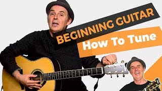how to tune - lesson #5 beginner guitar for grownups