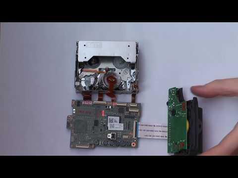 JVC GR-D725 defect mechanic demo (light broken gear-wheel)  (miniDV Camcorder)